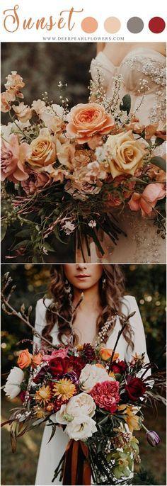 sunset orange weddin sunset orange wedding color ideas - orange fall wedding bouquets #weddings #weddingideas #weddingcolors #fallweddings #orange #weddingcolorideas