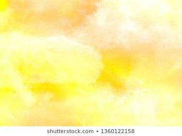Grunge Ink Effect Bright Yellow And Orange Color Shades Watercolor