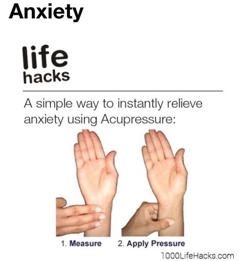 Acupuncture finger pressing for anxiety