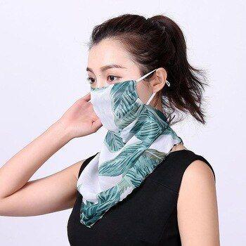 Women Floral Print Windproof Anti Uv Scarf Fashion Women S Neck