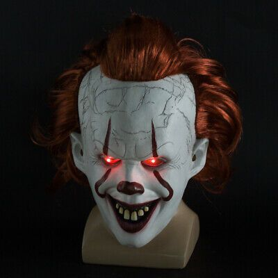 Men Halloween Party Cosplay Scary Mask Costume Stephen King/'s IT Clown Pennywise