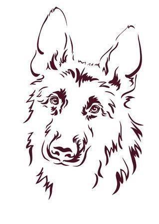Decal German Shepherd Dog Vinyl Decal Your Choice Of Color Free Shipping 4x6 4x6 Choice 2020 Hayvan Cizimi Hayvan Cizim