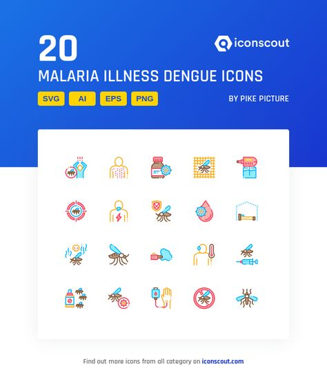 Download Malaria Illness Dengue Icon pack - Available in SVG, PNG, EPS, AI & Icon fonts
