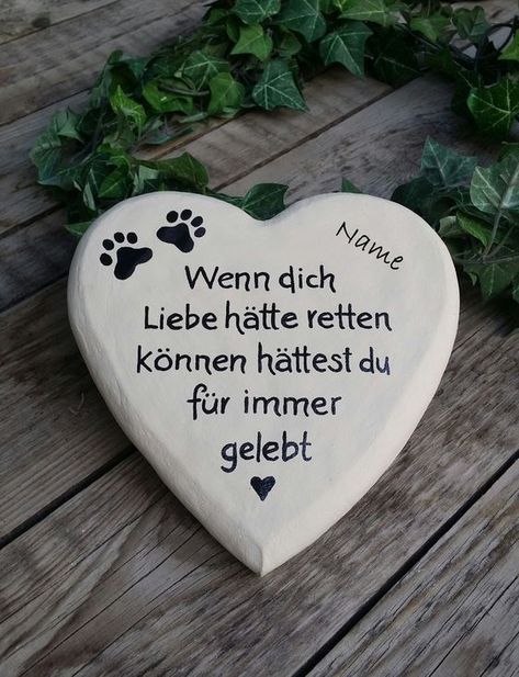 I am happy to present the latest addition to my # etsy shop: Tierg . memorial stones for people and animals - cats - I am looking forward to the newest addition to my present: Tierg memorial stones for hum -