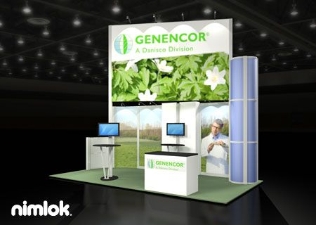 Nimlok Portable Exhibition Stand : Nimlok creates and builds portable trade show exhibits and displays
