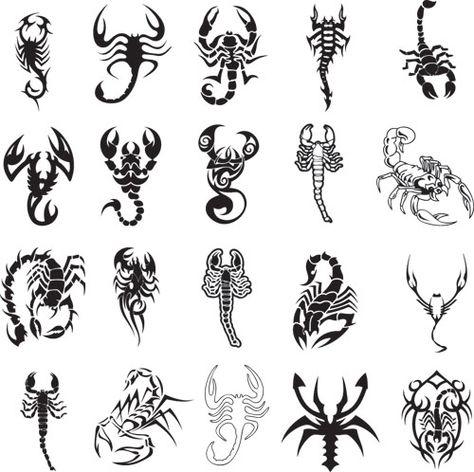 Different scorpion tattoo ideas