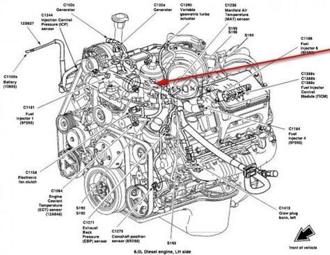 99 7 3 Powerstroke Fuel Diagram Moreover Ford 6 0 Coolant