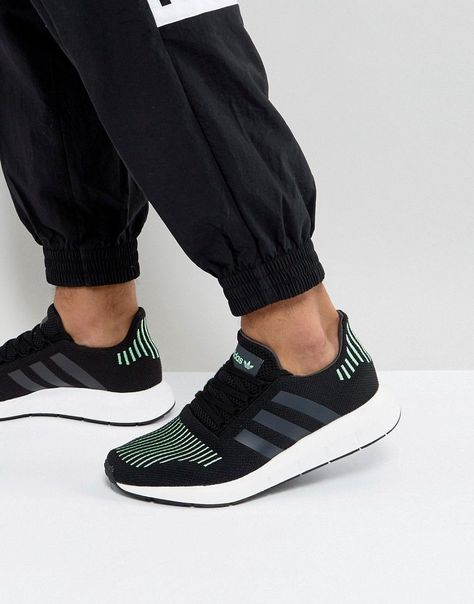 big sale 7d4a7 0ea5f ADIDAS ORIGINALS SWIFT RUN SNEAKERS IN BLACK CG4110 - BLACK.   adidasoriginals  shoes