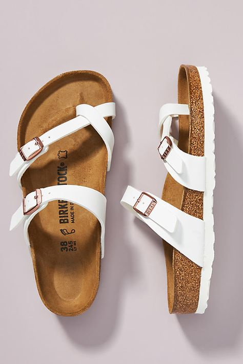 Birkenstock Mayari Sandals by in White Size: at Anthropologie Style Indie, Style Grunge, Soft Grunge, Cute Sandals, Shoes Sandals, Heels, Clogs Shoes, Gladiator Shoes, Clogs Outfit