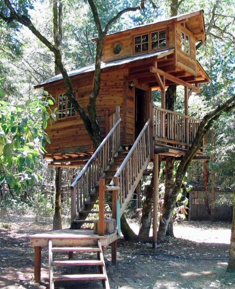 The Top 10 Coolest Family Vacation Spots - Stay in a treehouse---I'll just build this at my house!