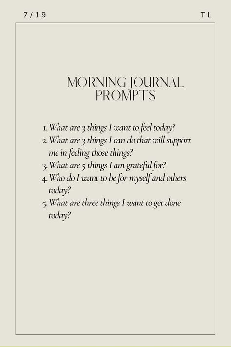 Daily journal prompts to start out your mornings right. #Leadership #Entrepreneurship #PersonalDevelopment #HealthyRecipes #Yoga #Meditation #Workouts