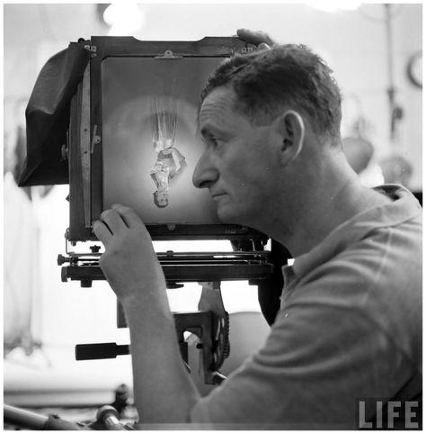 Gordon Parks - Photographer Erwin Blumenfeld, Photograph Bettina in poses Photo by Gordon Parks, July1950 a