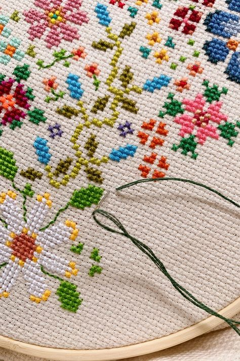 DIY Cross Stitching with a Pattern - Honestly WTF