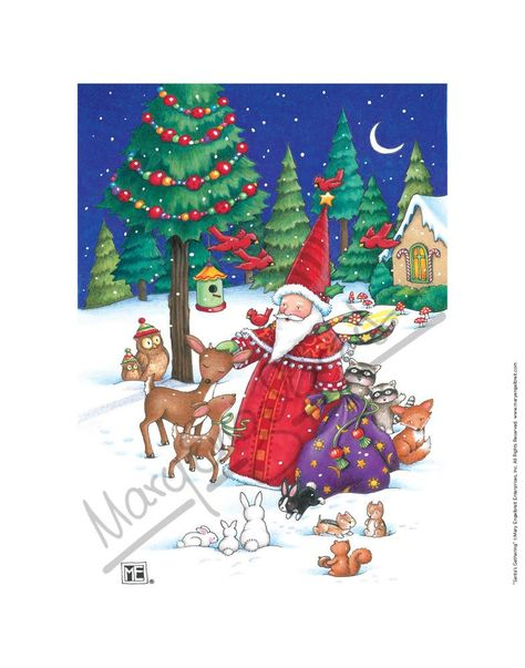 Santa's Gathering Fine Print