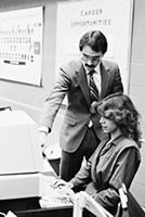 #lookingback Over the years, Genesee Community College has become known throughout the nation as a leader in technology… and it all began with the first computer class offered to students in 1985.