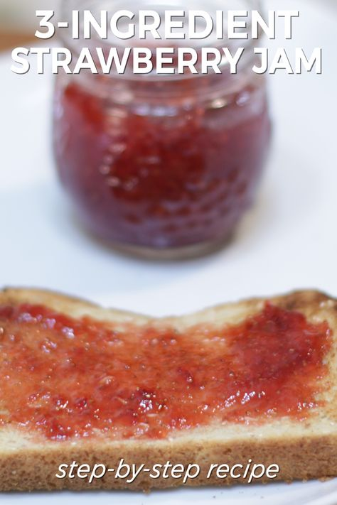 I love this 3-Ingredient strawberry jam. This step-by-step recipe is incredibly easy to make using just strawberries, lemon juice, and sugar. No added pectin and no special canning supplies needed. If I can do it, you can do it! Let's get started.