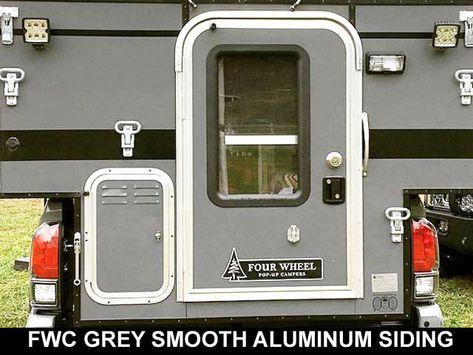 Fwc Smooth Grey Aluminum Siding Pop Up Truck Campers Truck Camper Camper