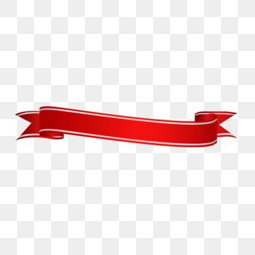 Red Gradient Ribbon Title Bar Material Red Ribbon Material Luxury European Elements Png And Vector With Transparent Background For Free Download Red Ribbon Ribbon Clipart Ribbon Decorations