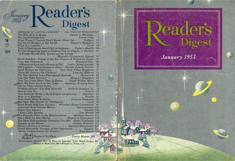 digestart:    Reader's Digest front and back cover, January 1953  Illustration: Robert H. Blattner