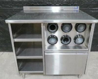 39 X 30 Stainless Steel Beverage Station Table Cup Dispenser