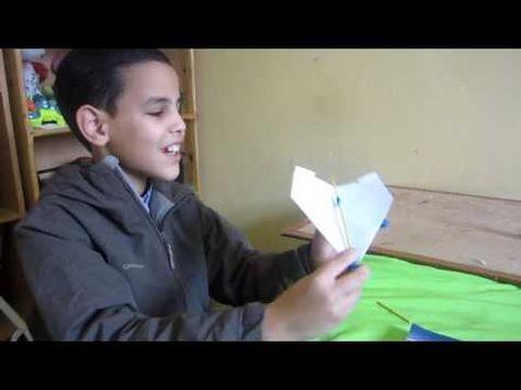اولادي حياتي Home Made Power Up Plane كيفية صنع طائرة ورقية مت Youtube