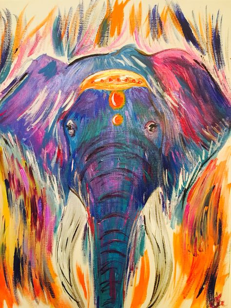 31523155 Animal painting in acrylic - elephant painting for sale | Artwork