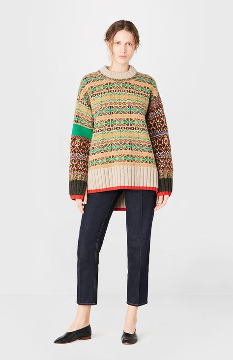 Fairisle Jumper en Multi - Tricot et Crochet