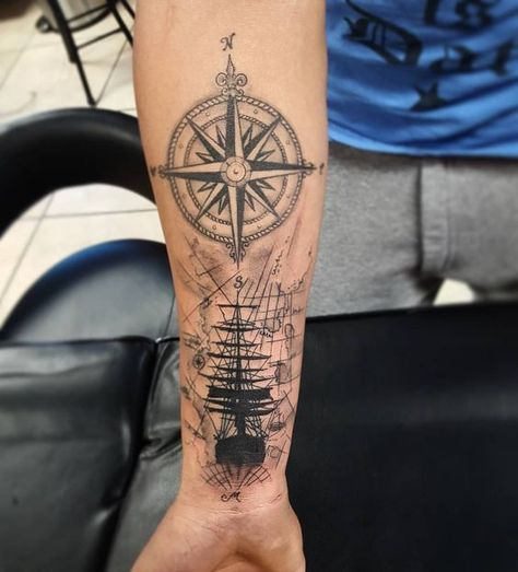 55 Amazing Nautical Star Tattoos With Meanings For Men And Women - Forearm Tattoos