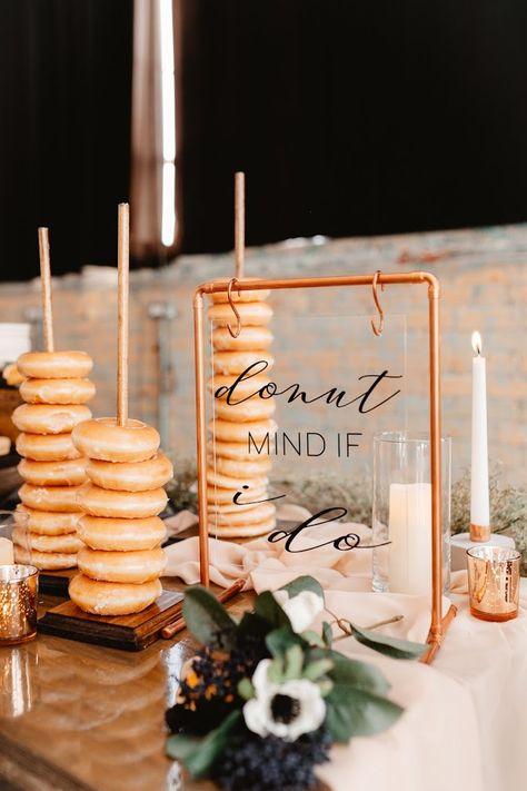 Copper Table Sign Arch Photo: @shantellerasmussenphoto Vinyl: @nieldfam7 Donuts: @krispykreme