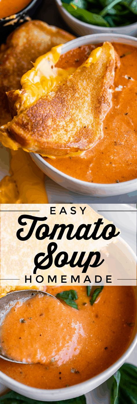 Easy Homemade Tomato Soup (30 Minutes) from The Food Charlatan
