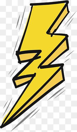 Thunder And Lightning Effect Vector Png Yellow Lightning Hand