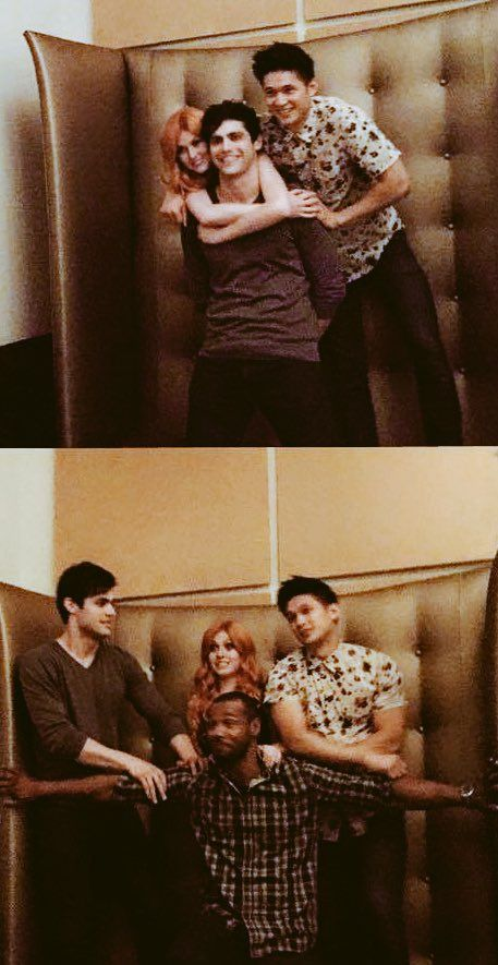 Shadowhunters ... Katherine McNamara, Matthew Daddario, Harry Shum Jr and Isaiah Mustafa as Clary, Alec, Magnus and Luke