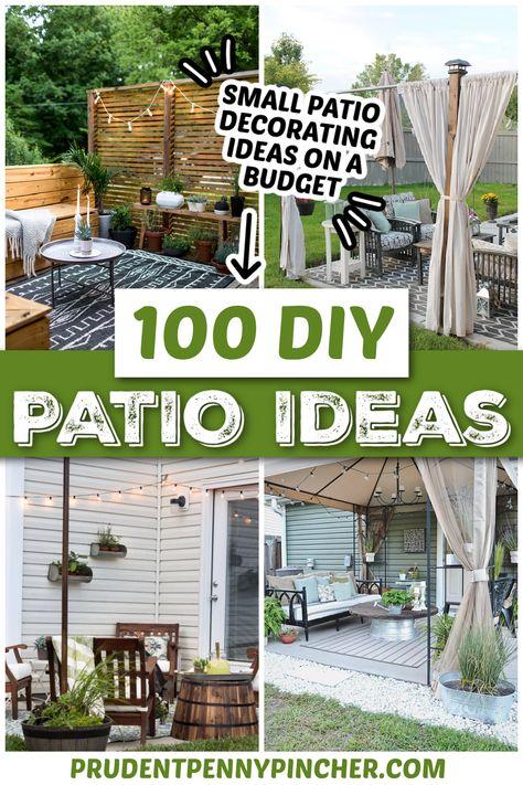 100 DIY Outdoor Patio Ideas on a Budget