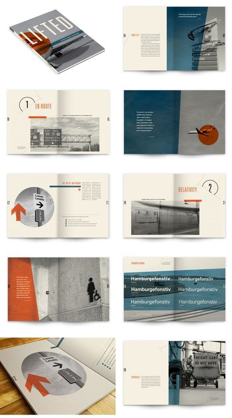 Lifted: A Look At Airport Typography Portfolio Design Layouts, Booklet Design Layout, Page Layout Design, Graphic Design Brochure, Graphic Design Books, Magazine Layout Design, Portfolio Ideas, Layout Book, Makeup Portfolio
