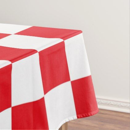 Checkered Red And White Tablecloth Zazzle Com Red White Red