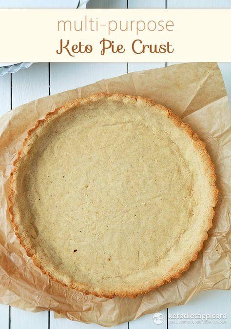 Multi-purpose Keto Pie Crust (low-carb & paleo) - egg free - dairy free option