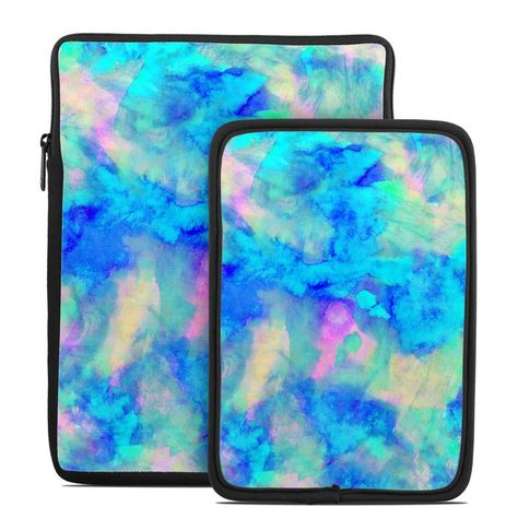 Zipper Sleeve Bag Cover MacBooks Fits Most Laptops Electrify Ice Blue