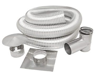 Metal Fab Superflex 5 X 25 Length Stainless Steel Chimney Liner Kit Slk0525t Metal Fab Stainless Steel