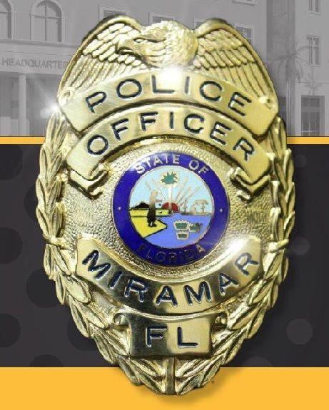 Us State Of Florida City Of Miramar Police Department Badge Police Police Badge Police Uniforms