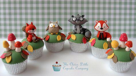 Woodland Critter Cupcakes - cuteness overload!!!