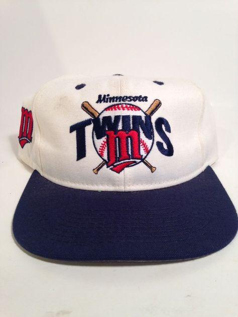 Vintage Apparel 1 Minnesota Twins SnapBack Vtg 90 s  a16f372128d