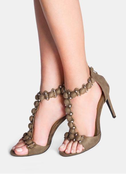 Zielone Sandalki Na Obcasie Empress W Sklepie Deezee Pl Heels Sandals Heels Shoes