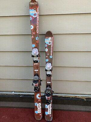 Advertisement Ebay Rossignol Fun Girl Junior Skis W Marker 4 5 Kids Adjustable Bindings Skiing Cool Girl Ski Girl