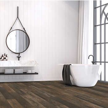 Mohawk Home Medallion Pine 10mm Thick Laminate Flooring With Splashdefense Technology 2mm Pad Attached In 2020 Mohawk Home Laminate Flooring Oak Laminate Flooring