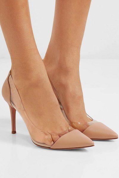 18fce663f Gianvito Rossi plexi 85 leather and pvc pumps. #gianvitorossi #nudeshoes # pumps #heels