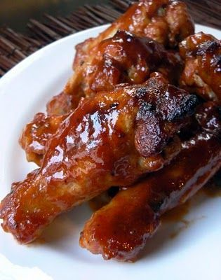 Saucy Honey Mustard Wings.  So easy to whip up and with common ingredients.