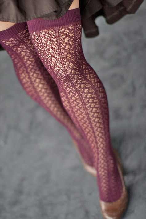 Crochet Lover Over the Knees, plus the site has socks and stockings galore!