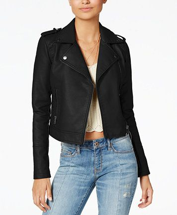 9cfe563a4 American Rag Juniors' Faux-Leather Moto Jacket, Created for Macy's ...