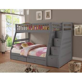 Sandberg Bunk Bed With Trundle And Drawers Bunk Bed With Trundle