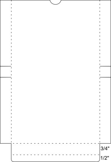 Box template for A2 envelopes and cards A2 envelopes, Box - a2 envelope template